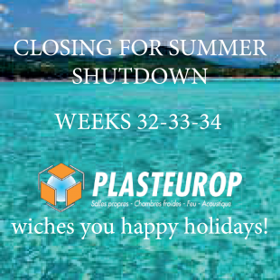 CLOSING FOR SUMMER SHUTDOWN - News - Plasteurop - Controlled